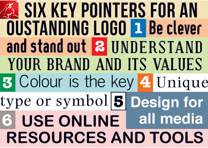 Infografik Six Key Pointers for an Outstanding Logo